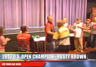 2013 WON BASS US OPEN CHAMPION RUSTY BROWN