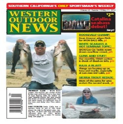 Rusty Brown catches a 30 lb limit of Lake Isabella largemouth bass and lands the another cover of Western Outdoor News